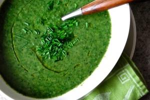 La soupe d'orties biologique